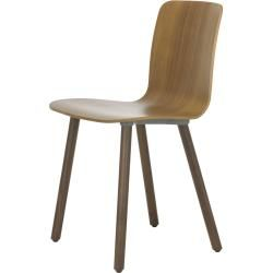 Photo of Hal Ply Wood Stuhl mit Kunststoffgleitern Vitra