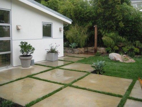 Nice Modern Concrete Patio Modern Concrete Squares For Patio At Patio   Home  Interior Design