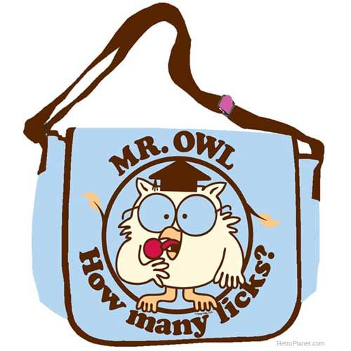 Mr. Owl Tootsie Pop Messenger Bag