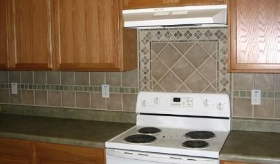 Backsplash Tile Patterns legacy cherry cabinets with granite and ceramic tile backsplash