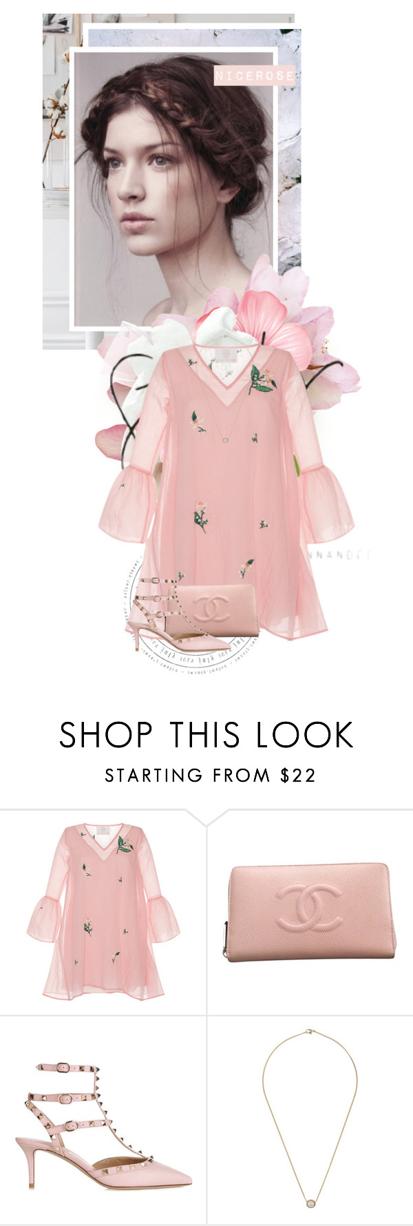 """""""Romantic nature"""" by nicerose ❤ liked on Polyvore featuring Zayan The Label, Chanel, Valentino and Miss Selfridge"""
