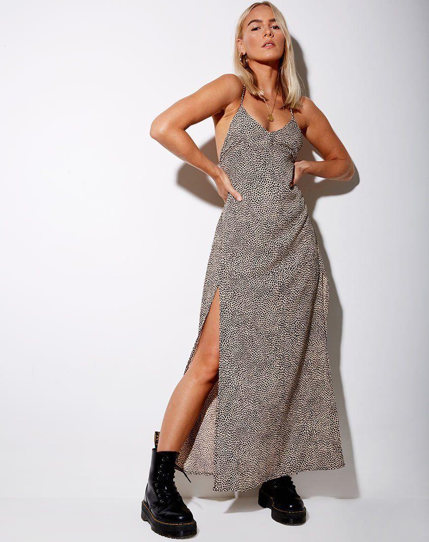 Hian Maxi Dress In Mini Croc Tan Maxi Dress Dresses Printed Maxi Dress [ 1100 x 870 Pixel ]