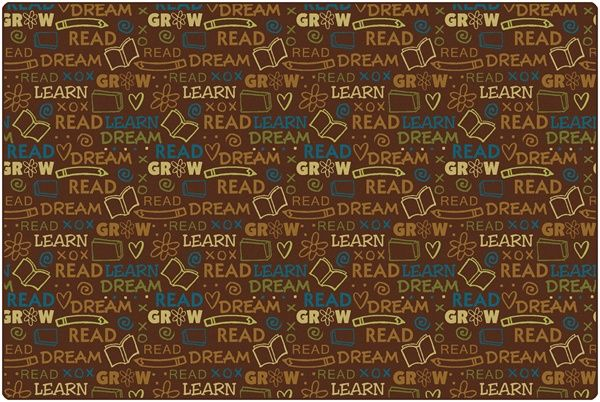 Read to Dream Pattern Rug Nature   CFK1672XX   Carpets for Kids