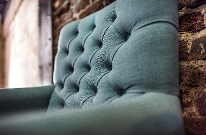 Sessel Stuhl Esszimmer Vintage Landhaus Stoff Leder Mehrfahrbig Stuhlset  Esszimmerset Genietet
