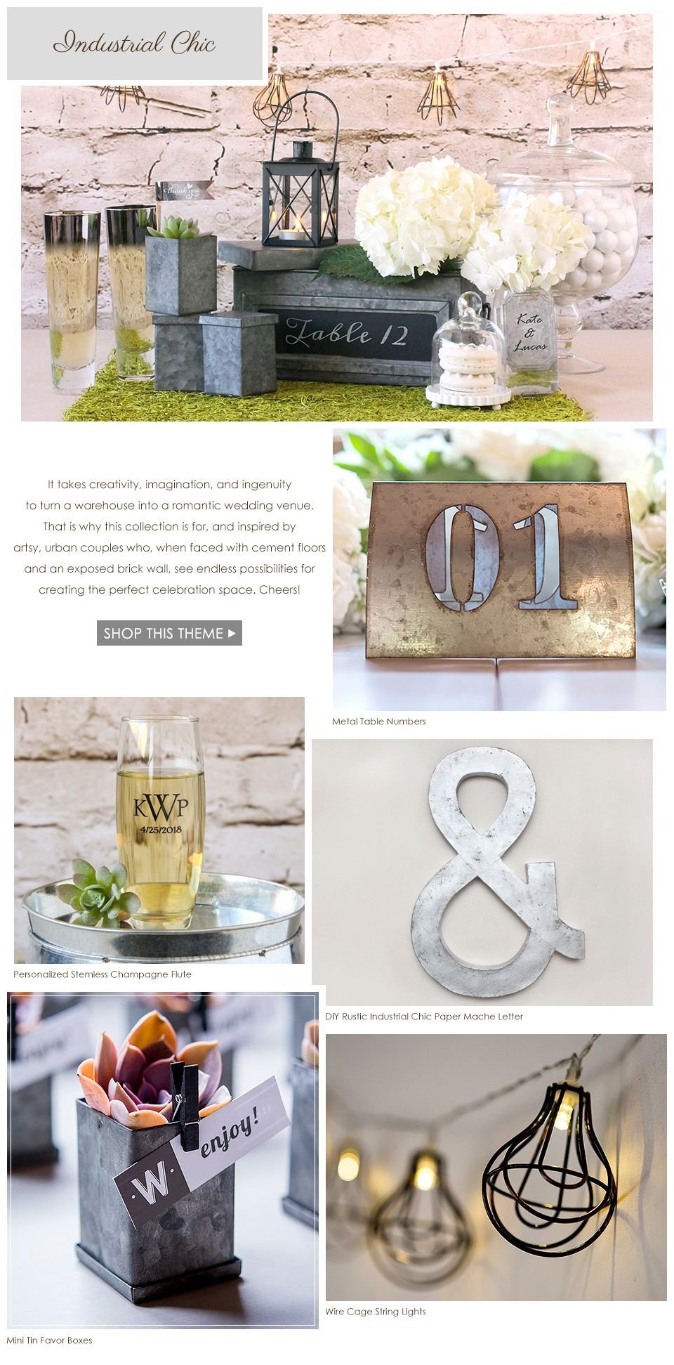 NEW Spring Wedding Lookbook - The Industrial Chic look is perfect ...