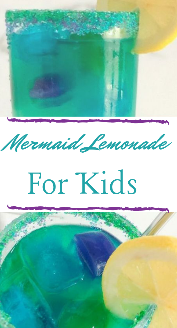 MERMAID LEMONADE #drink #lemonade #mermaid #cocktail #sangria #lemonadepunch