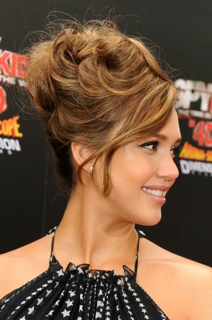 Jessica Alba Has Taken The Updo To Dizzying New Heights But Would