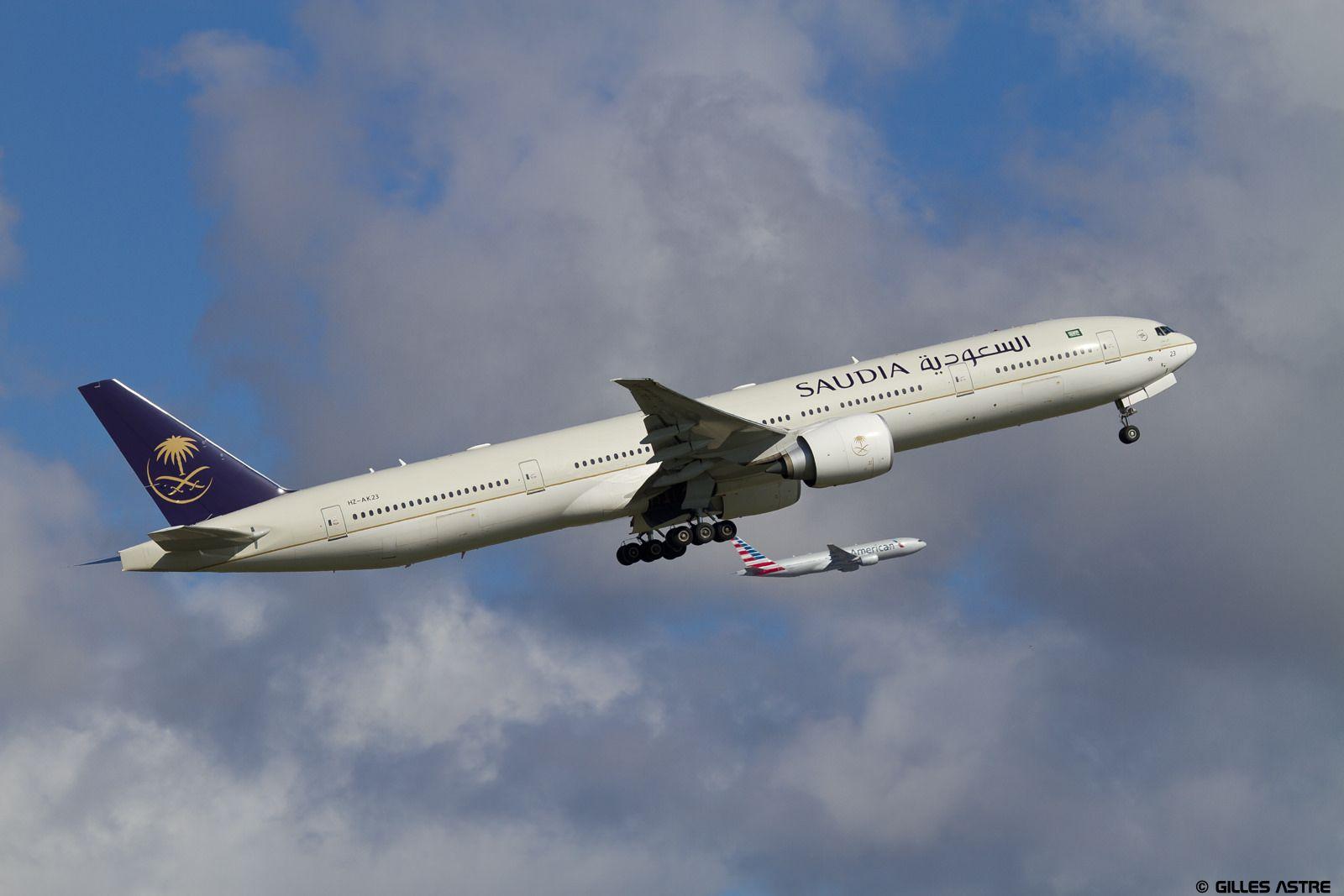 https://flic.kr/p/z4NqaH | LFPG 20 septembre 2015 Boeing 777 Saudia HZ-AK23