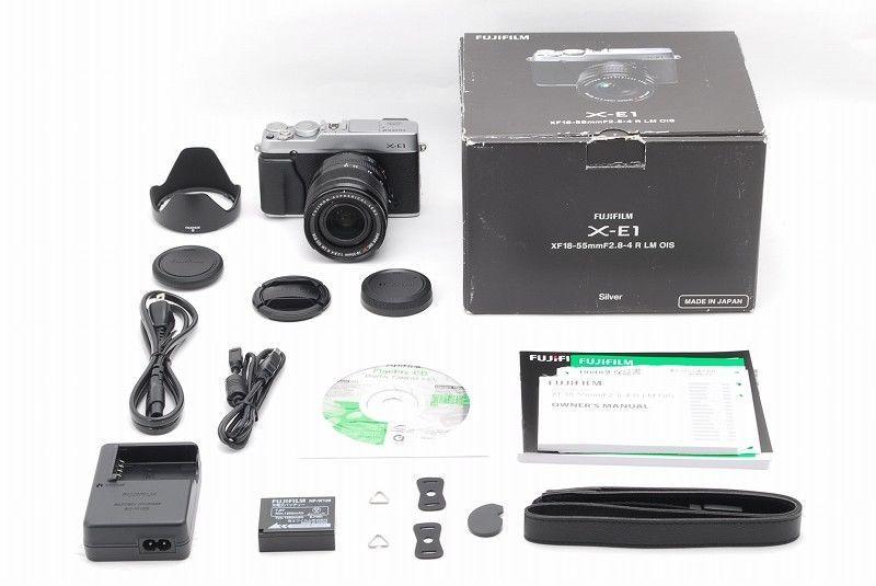 Near Mint in Box Fujifilm X-E1 with XF 18-55mm f/2.8-4 Silver warranty Japan