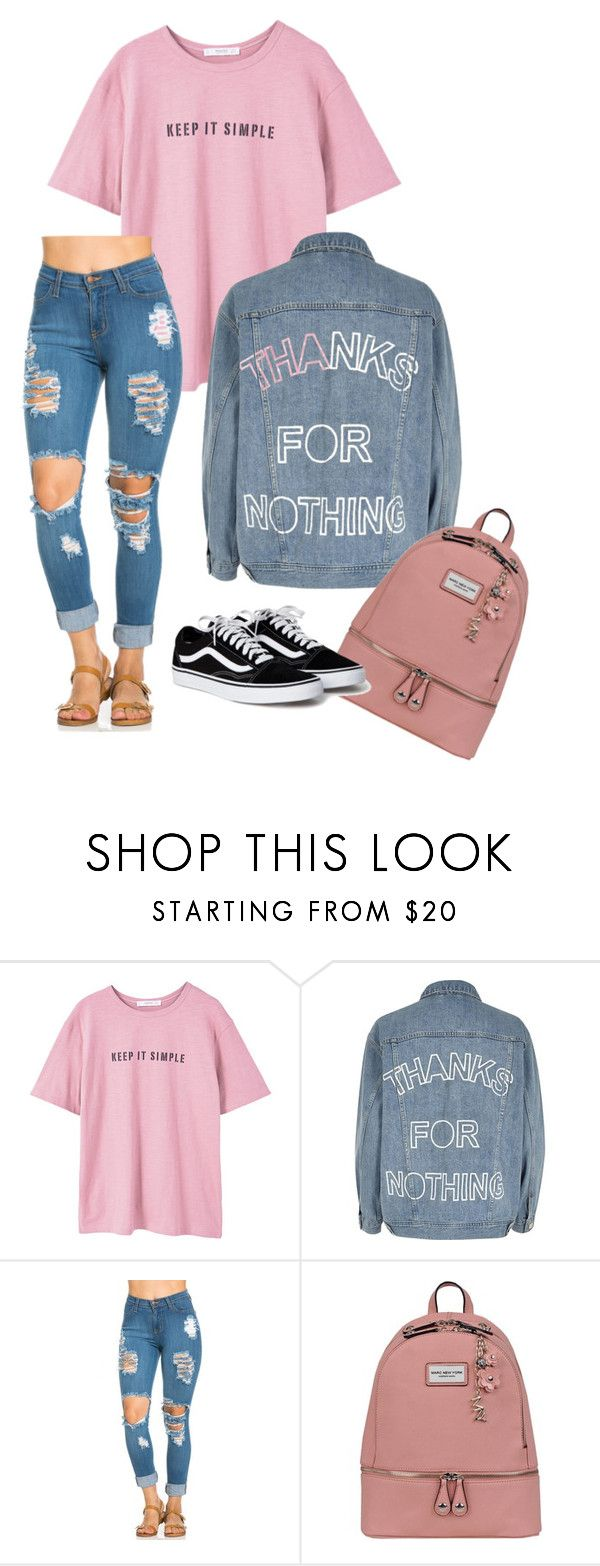 """""""Keep it simple."""" by poppy13sharp ❤ liked on Polyvore featuring MANGO, River Island and Andrew Marc"""