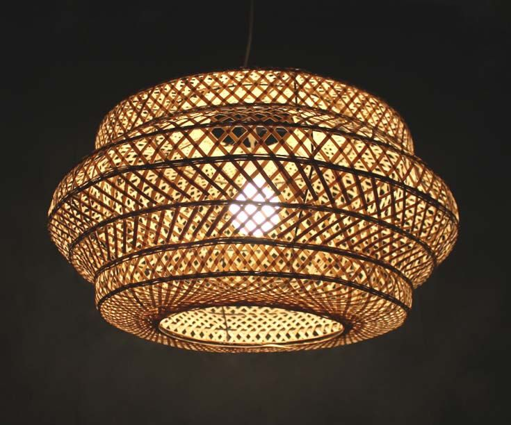 Natural Bamboo Lampshade Fixture Bamboo Lighting Pendant Lights Chandelier Ceiling Lights Bamboo Crafts Decor Lamp