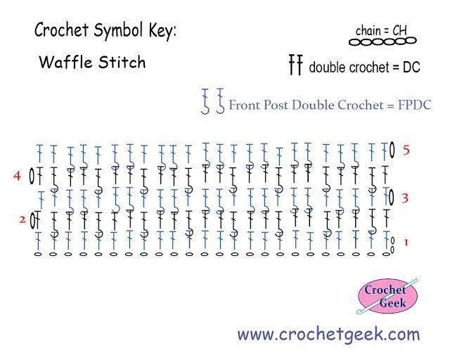 Crochet Waffle Stitch Diagram