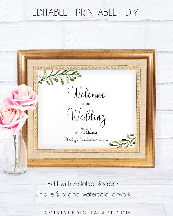 Wedding Signs: Brilliant Welcome Ideas For Ceremony and Reception ...