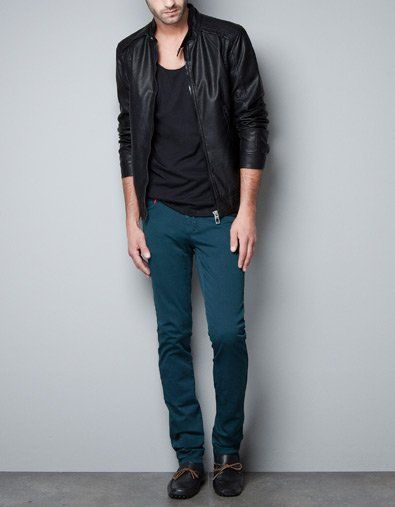 Fancy - SYNTHETIC LEATHER JACKET WITH STAND COLLAR - Jackets - Man - ZARA United Kingdom