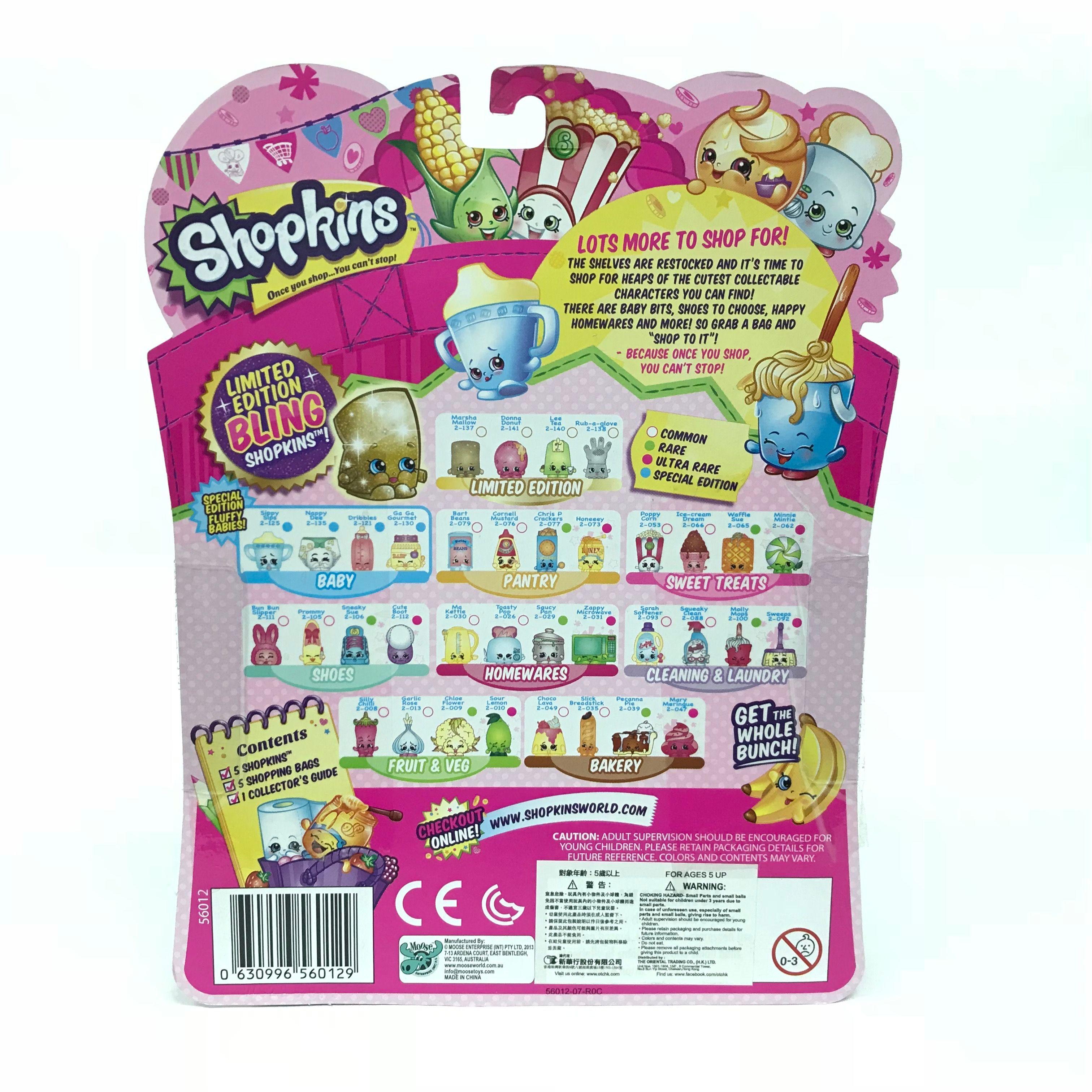 Shopkins-Season-2-Collectibles-Pack-of-5-Bags-Characters-Set thumbnail 9