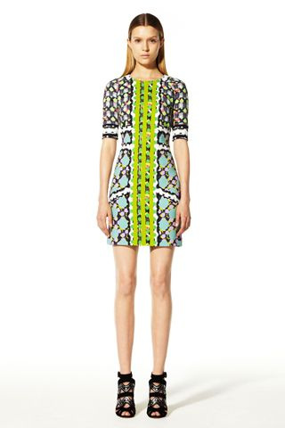 Love this simple silhouette with a mix of bold prints.    (Peter Pilotto Resort 2013)