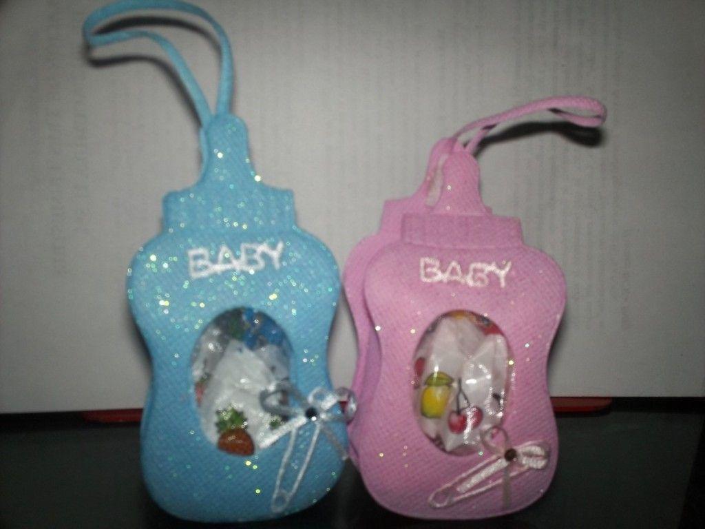 Como hacer recuerdos de biberones para baby shower - Manualidades para hacer ...