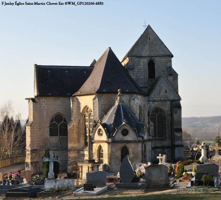 l'église Saint-Martin .Jaulzy.Oise