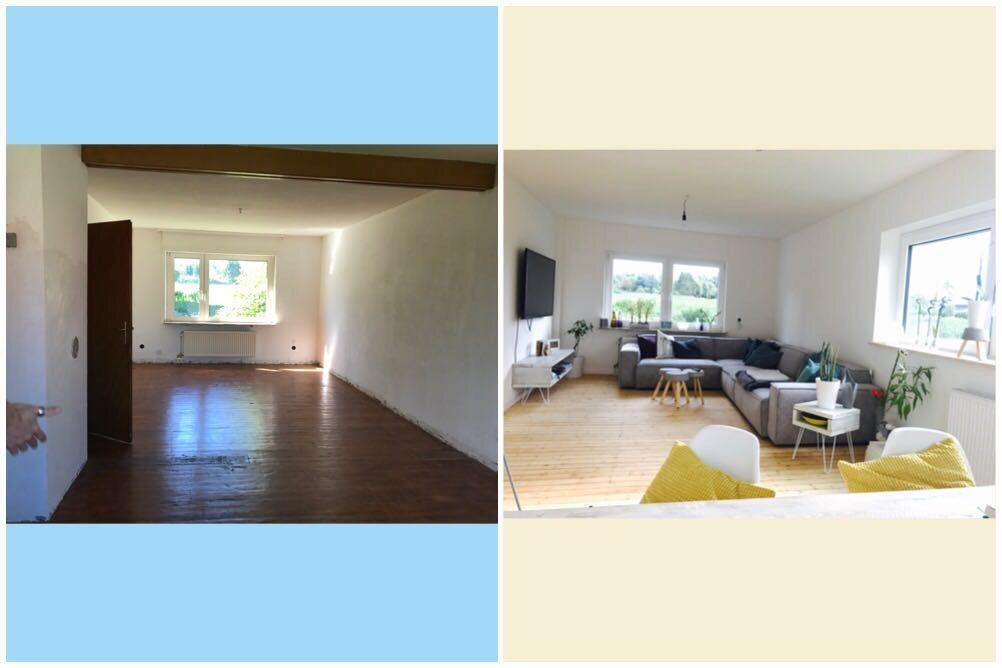 Wohnzimmer diy Renovierung vorher nachher altbau | Sweet Home ...