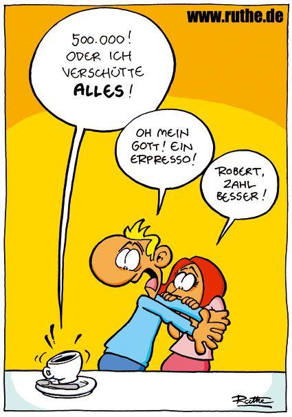 Ein Erpresso!                                                                                                                                                     Mehr #comicsandcartoons