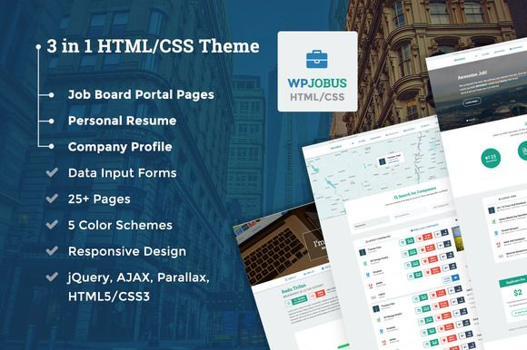 Check out WPJobus - Job Board, Resume HTML/CSS by Themes Dojo on ...
