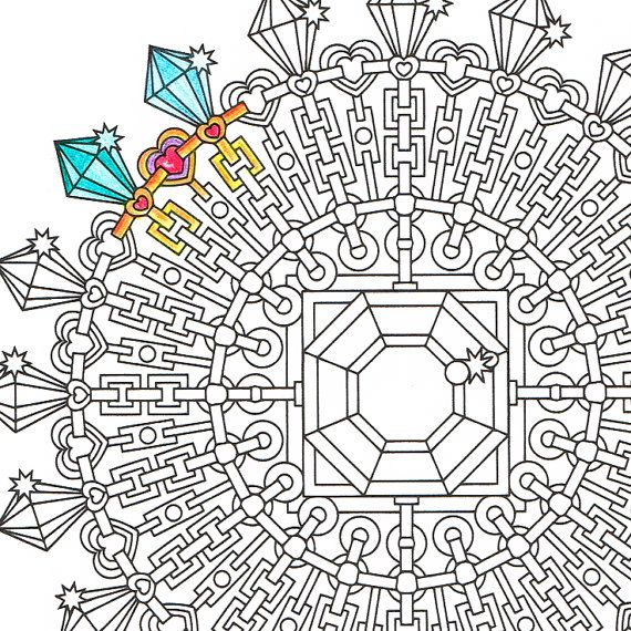 Mandala Coloring Page Diamond Clarity printable by
