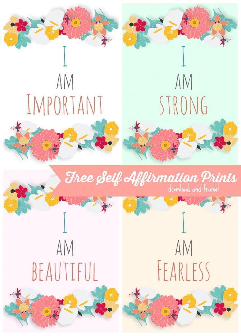 picture regarding Free Printable Affirmation Cards known as No cost Self Confirmation Printables: Print some Positivity