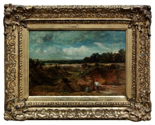 19th Century English Oil on Panel Landscape Painting - $2250.