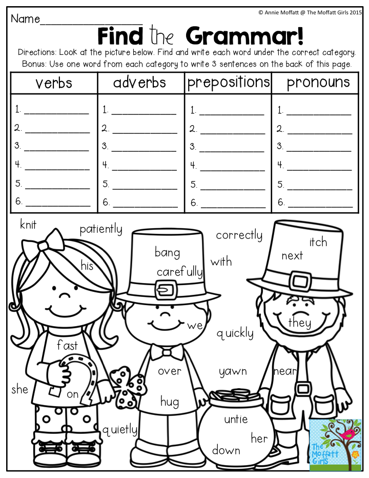 Find The Grammar Such A Fun Way To Practice Parts Of