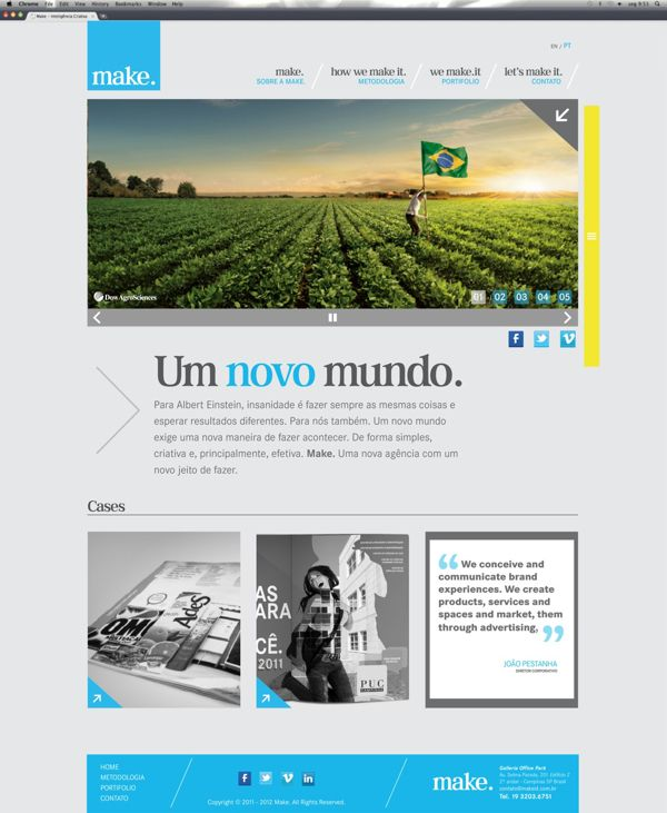 Site Agencia Make On Web Design Served đồ Họa