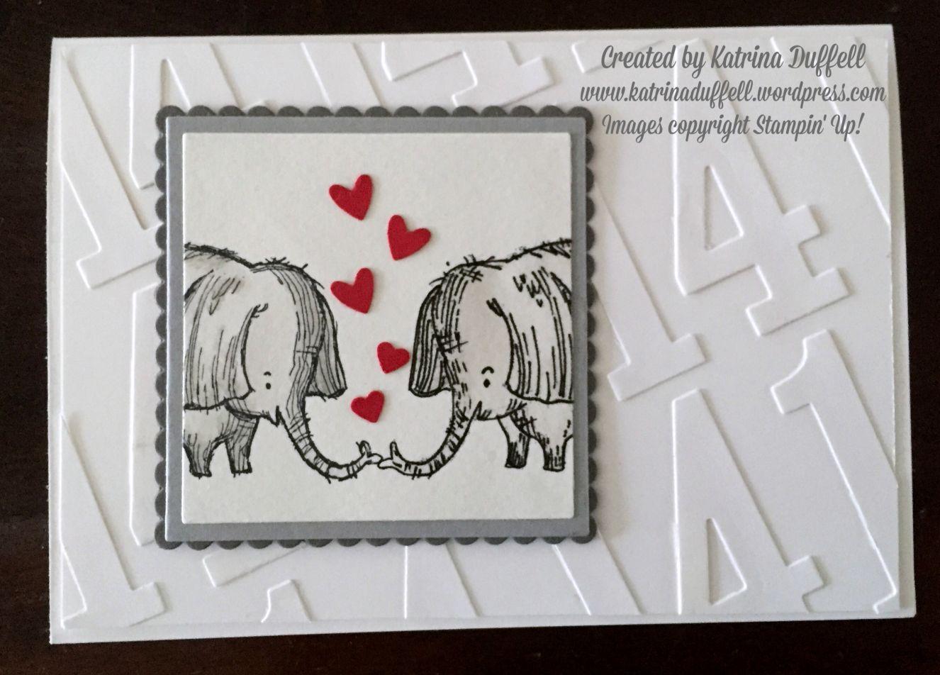 Elephant Anniversary Card Stampin' Up! Anniversary