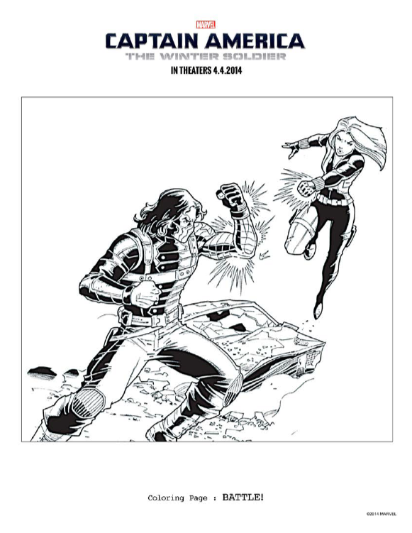 black widow battle coloring page captainamericaevent - Black Widow Marvel Coloring Pages