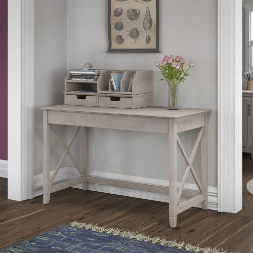 Gray Writing Desk and Organizer (48 Inch) - Key West Writing desk