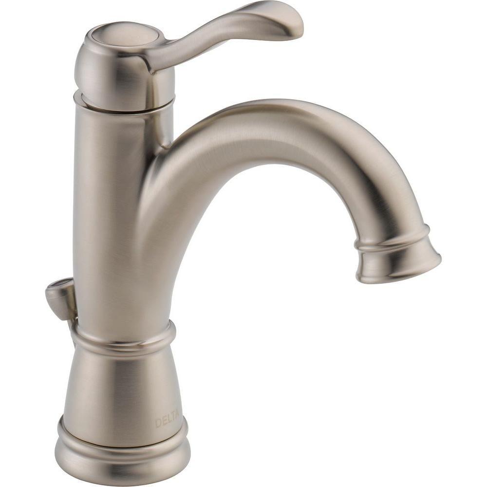Delta Porter Single Hole Single-Handle High Arc Bathroom Faucet in ...