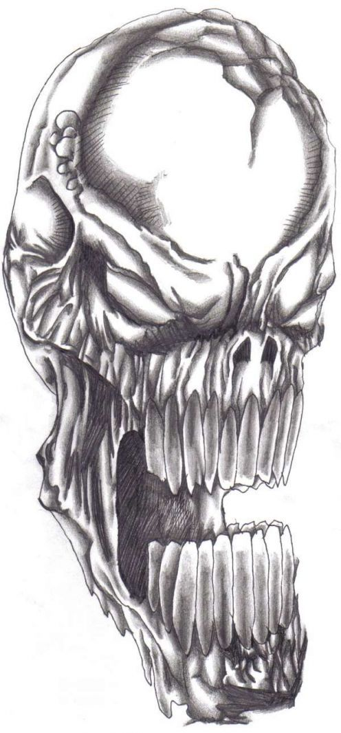 Screaming Skull Tattoo Design Fashion Style Skull Tattoo Design Skulls Drawing Skull Tattoo