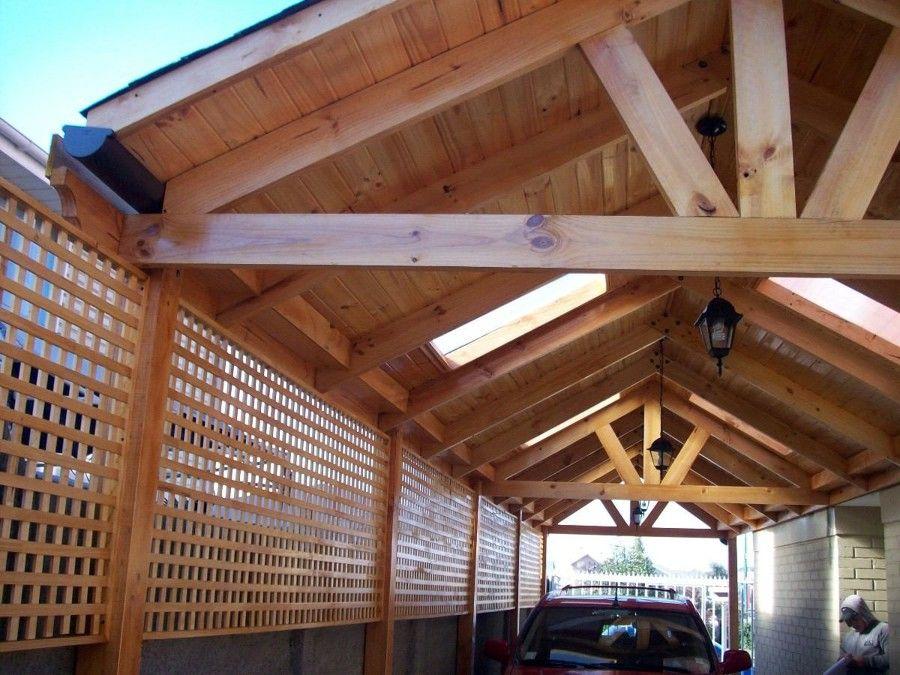 Cobertizo madera pinterest cobertizo terrazas y madera for Cobertizo de metal