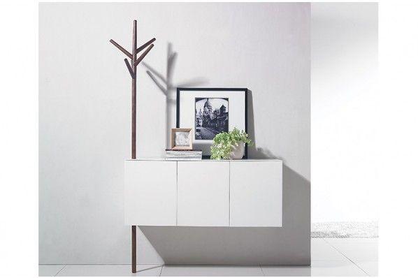 Console Pereira blanche et mocca, un meuble poétique pour une entrée