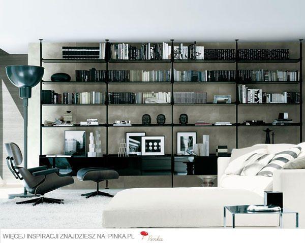 Czarny Ażurowy Regał Na Książki Home Home Library Design