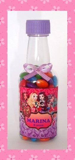Garrafinha personalizada para festa infantil com mini m&m´s. Facebook kitfestaskids