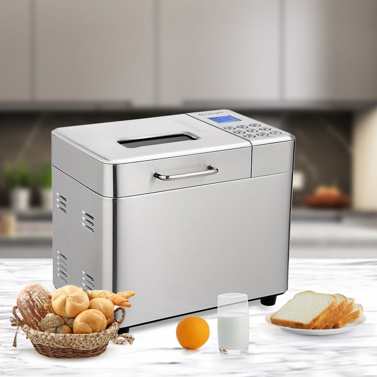 Home & Garden Automatic Stainless Steel Bread Maker 2Lb ...