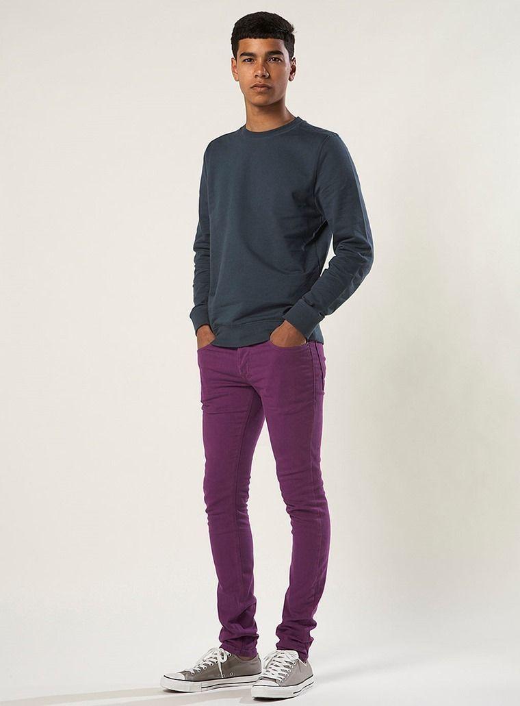 David Beckham Fashion Style 2013 pantalon morado hombre...