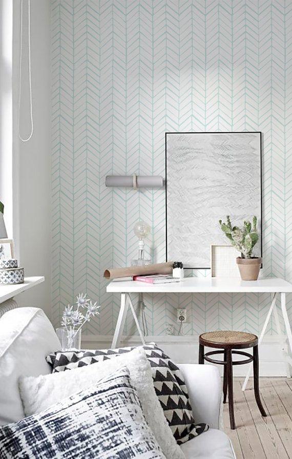 Peel And Stick Self Adhesive Vinyl Wallpaper Herringbone Pattern Print 026 Snow P Chandelier In Living Room Grey Wallpaper Living Room Living Room Corner