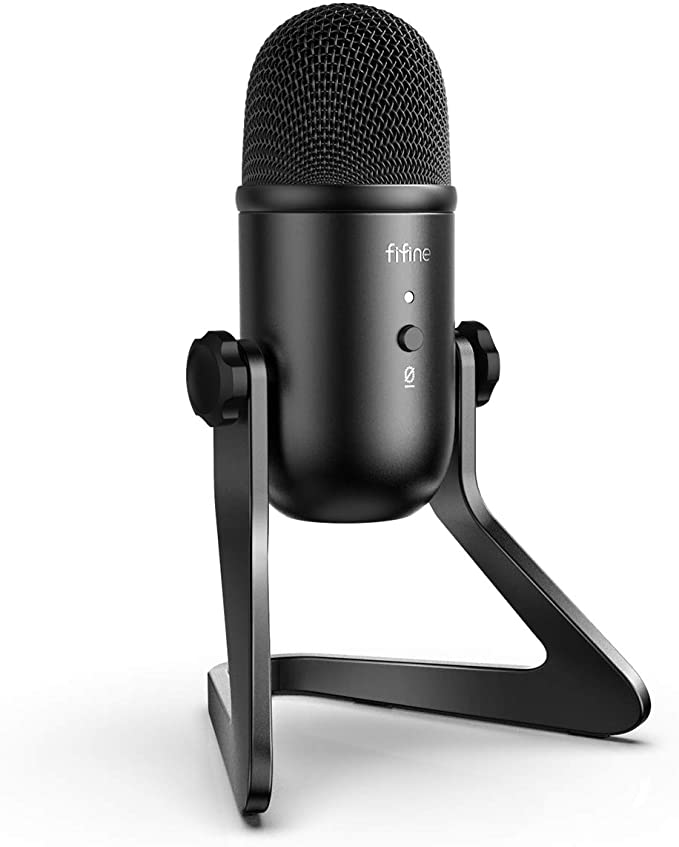 Amazon Com Fifine Usb Podcast Microphone For Recording Streaming On Pc And Mac Condenser Computer Gaming Mi In 2020 Microphone For Recording Usb Microphone Microphone