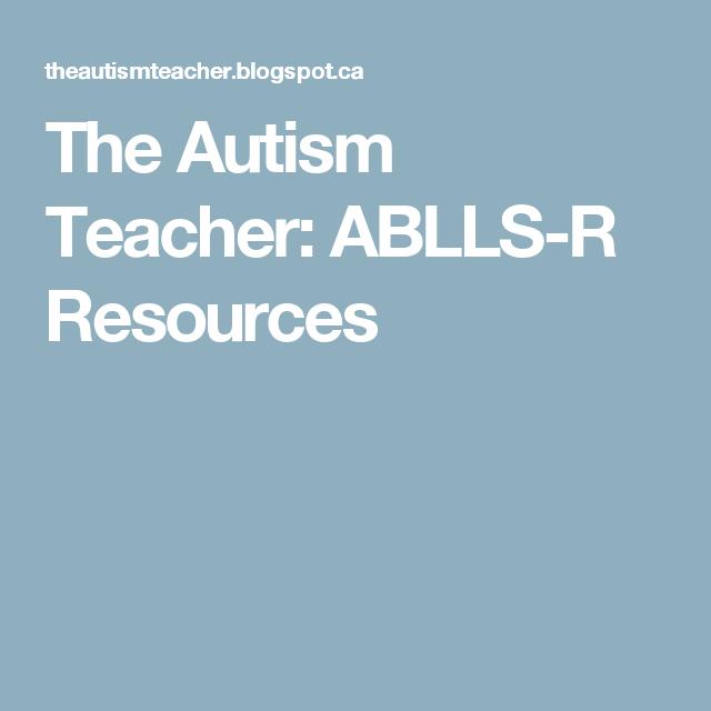 The Autism Teacher: ABLLS-R Resources