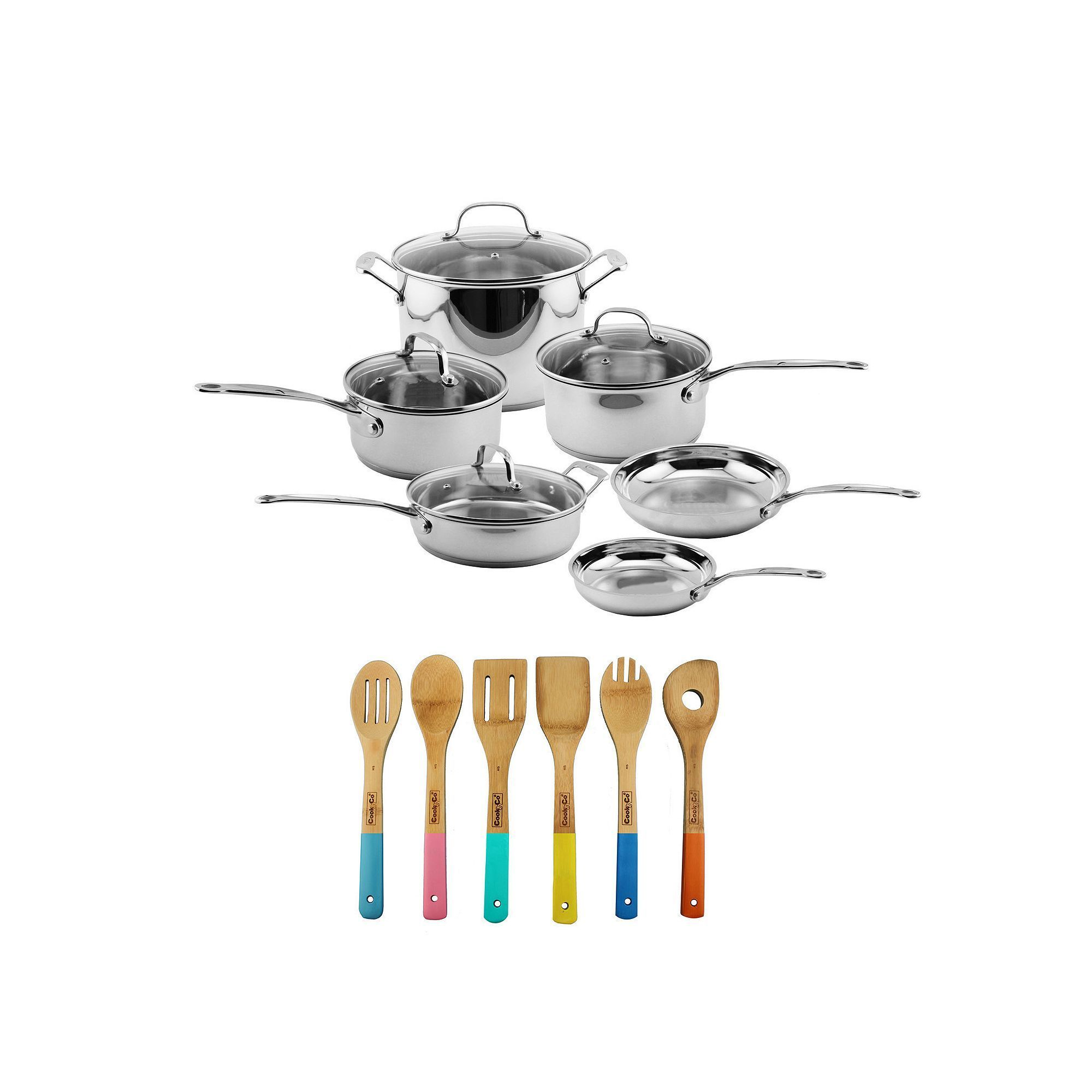 BergHOFF EarthChef 16-pc. Premium Copper Clad Cookware Set, Brown