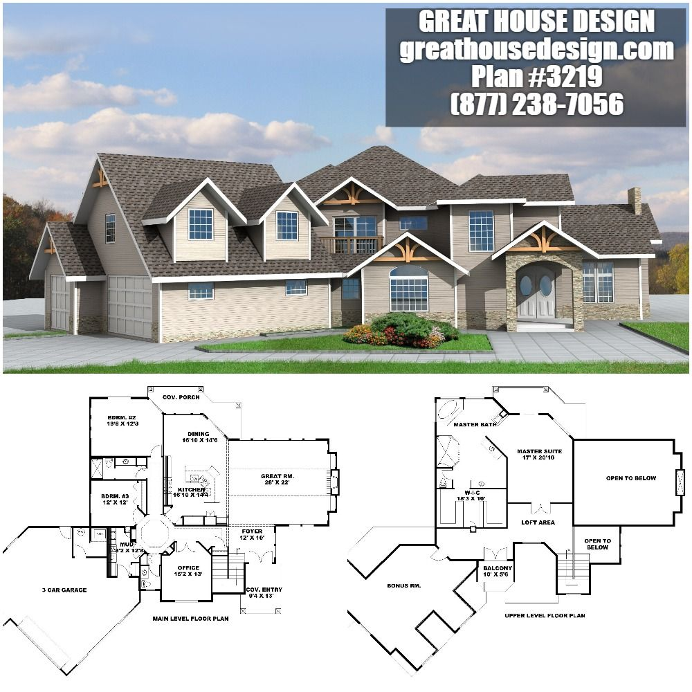 Home Plan 001 3219 Home Plan Great House Design Luxury House Plans House Plans Luxury Floor Plans