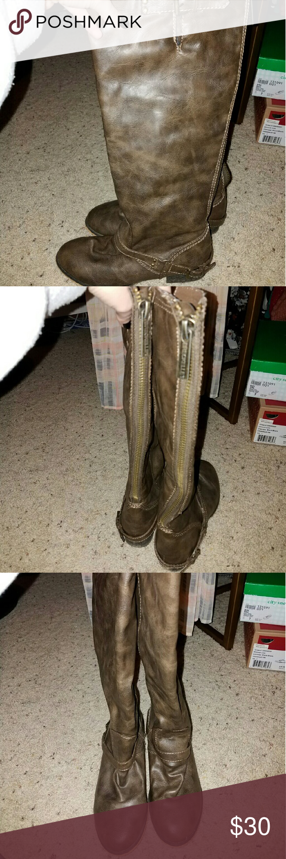 Brown riding boots worn a handful of times, very good condition Shoes