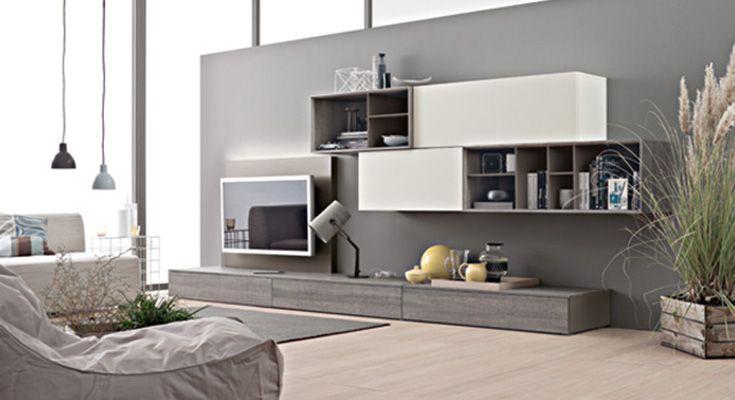 soggiorno moderno parete tv   stefi   Pinterest   Living rooms, Tv ...