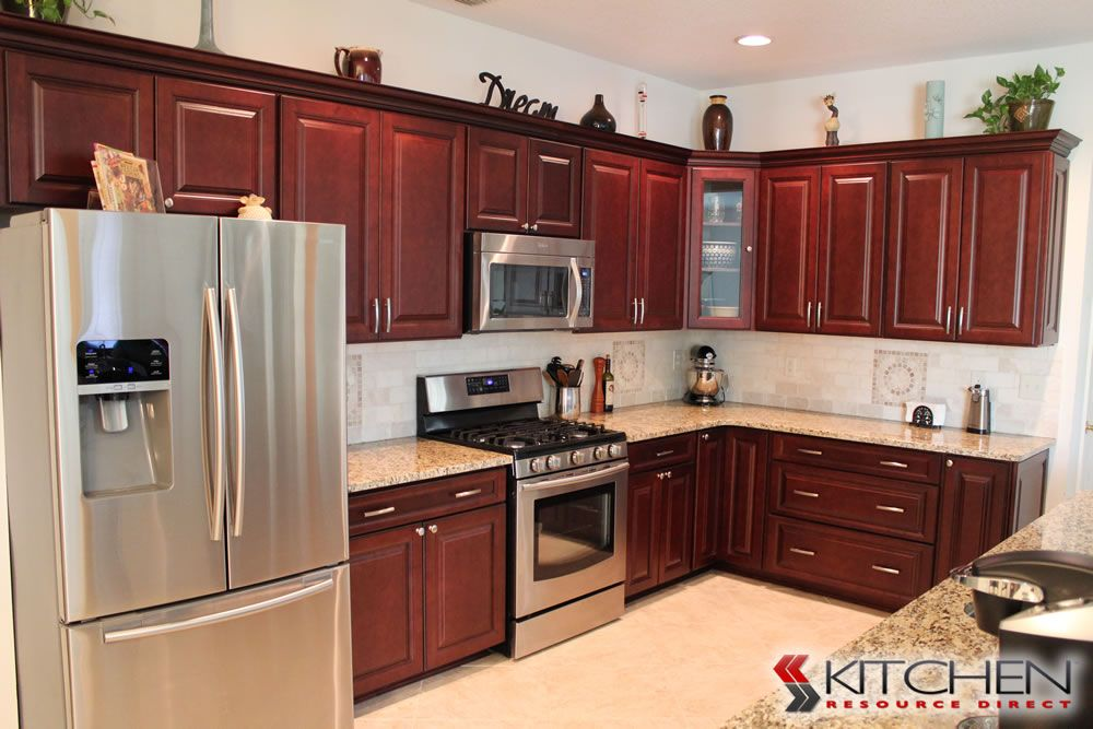 Youngstown Photo Gallery | Discount Kitchen Cabinets Maple Merlot Coffee  Glaze