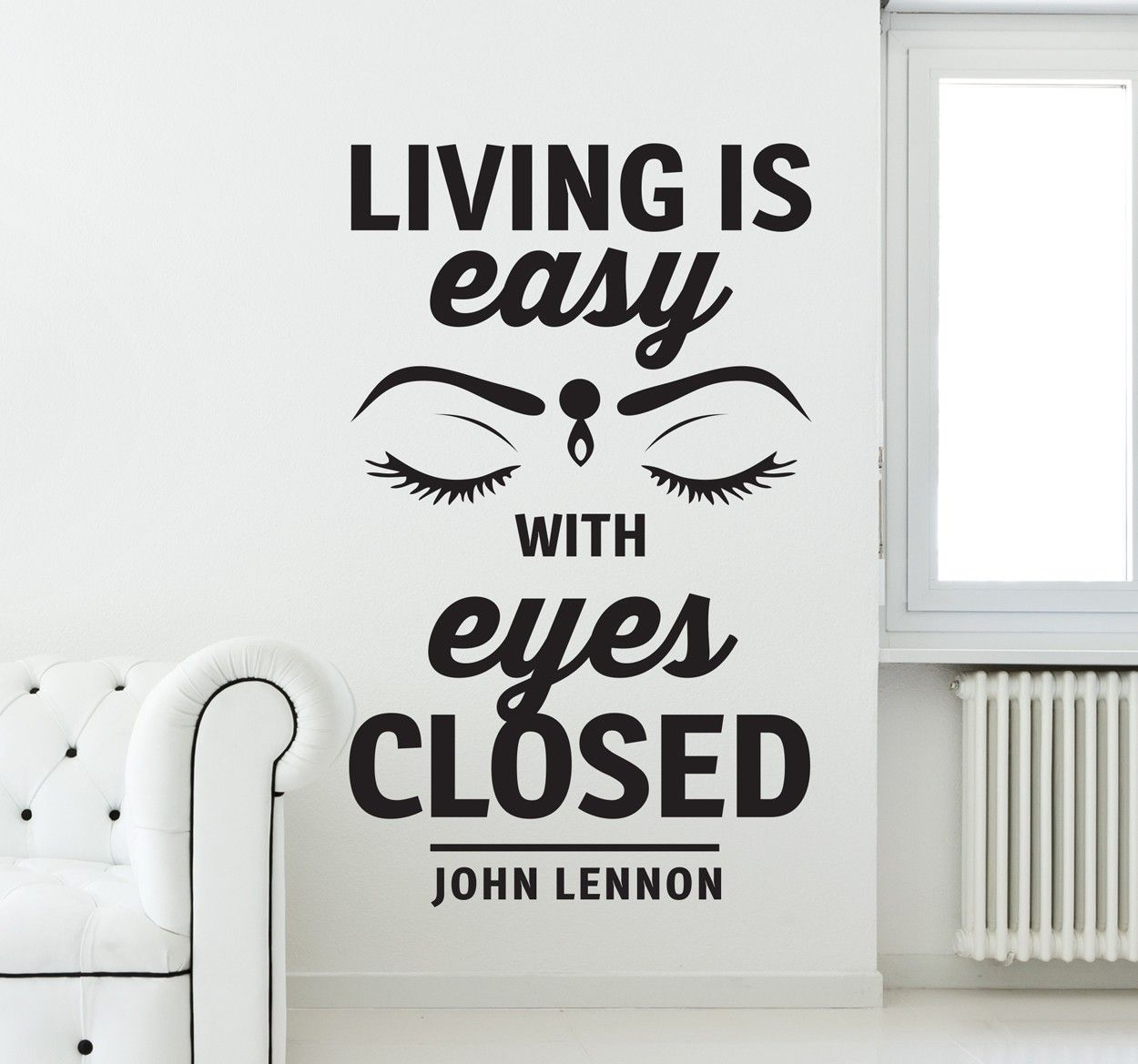 Find your personal qoute here! #text #sticker #home #decor #wall #art éyes #johnlennon #decoration #DIY #quote